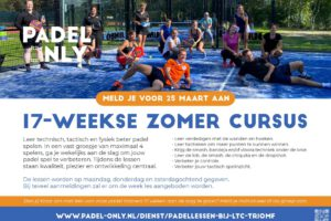 Inschrijving zomercursus padel geopend